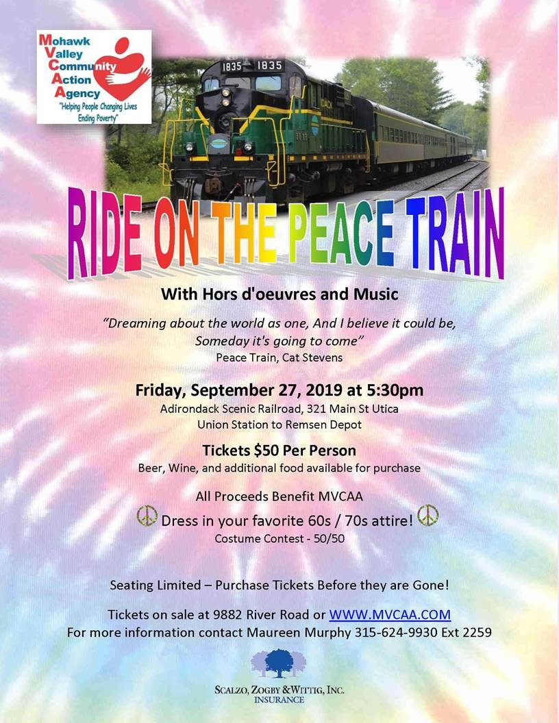 TEXT: Ride the Peace Train Event